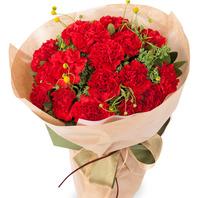 붉은카네이션꽃다발