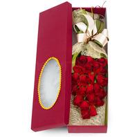 붉은장미꽃상자